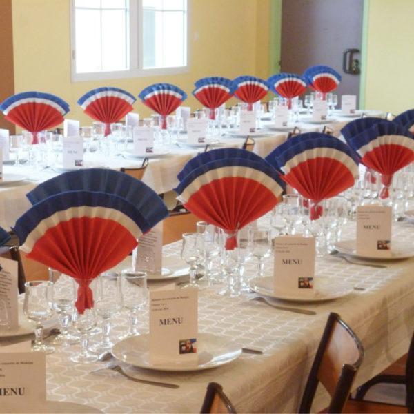 table de banquet de conscrits