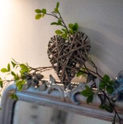 coeur décoration chambre St Amour du gite en beaujolais